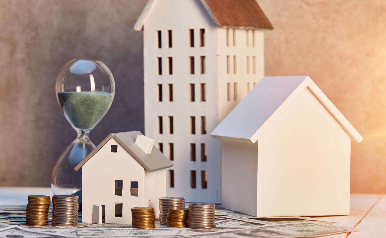 Concept photo of urban house model.