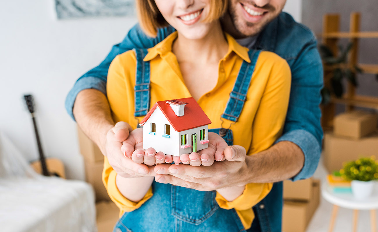 Couple considering buying a house.