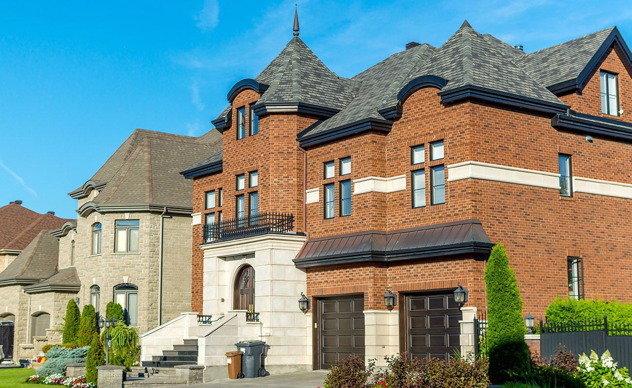 Luxury homes in Canada.