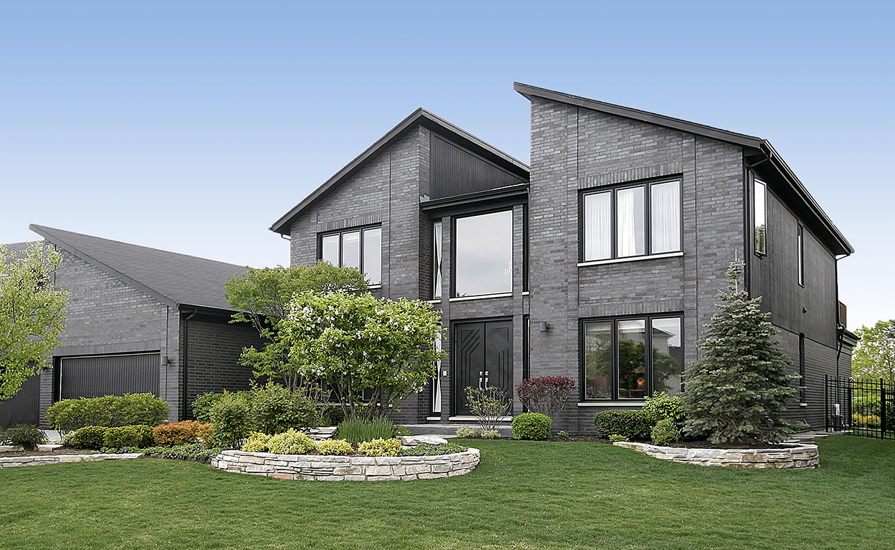 Modern home in the suburbs.