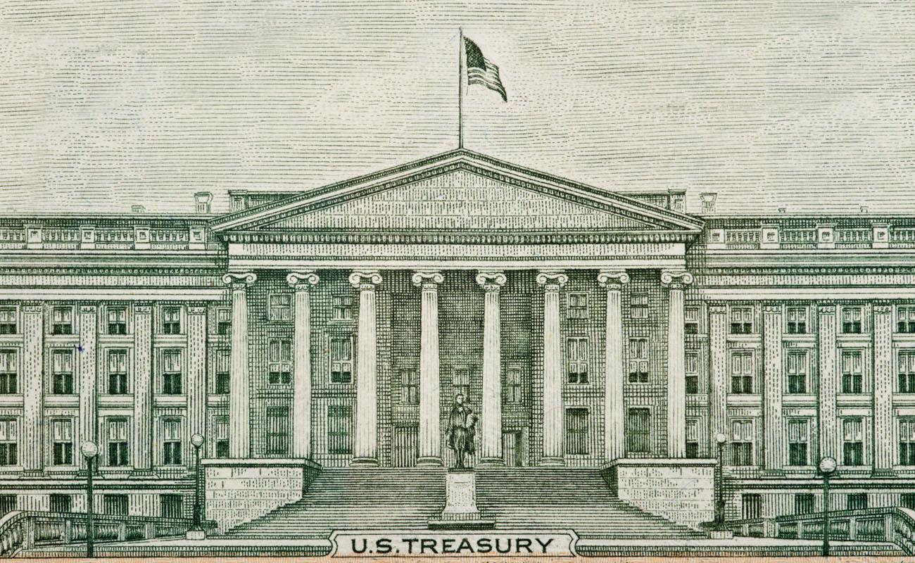 Old image of US treasury.